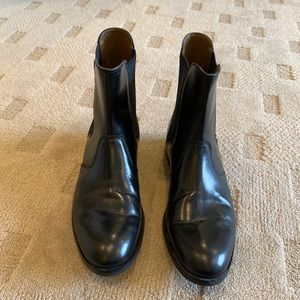 Zara Men's Black Leather Slip on boots